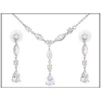 Набор - ожерелье, серьги -ювелирная бижутерия   Blue Dolphin, код. 61863