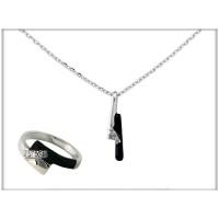 Набор - кольцо, ожерелье -  ювелирная бижутерия  Blue Dolphin, код.75613