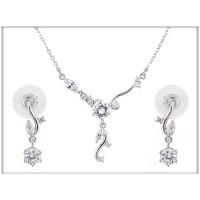 Набор - ожерелье, серьги  - ювелирная бижутерия Blue Dolphin, код. 63590