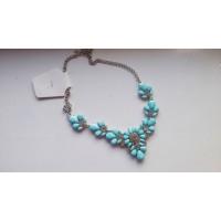 Колье - Ожерелье  яркое голубое