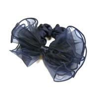 Резинка  ШУ-Шу   мягкая тканевая, P1028-1, темно синяя