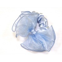 Резинка  ШУ-Шу   мягкая тканевая, P1028-4  голубая