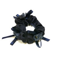 Резинка  ШУ-Шу   мягкая тканевая, P26959-4, темно синяя