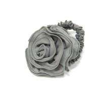 """Резинка  ШУ-Шу """"Роза""""  мягкая тканевая, P0918-2, серая"""