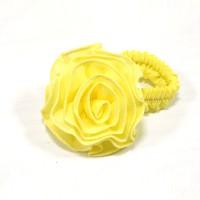 """Резинка  ШУ-Шу """"Роза""""  мягкая тканевая, P0918-3 , желтая"""