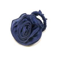 "Резинка  ШУ-Шу ""Роза""  мягкая тканевая, P0918-5, синяя"