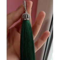 Серьги кисти, кисточки  зеленые, высокого качества, в  подарочной упаковке, с инструкцией