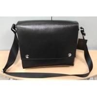 Мужская большая сумка  из  натуральной кожи, цвет  черный
