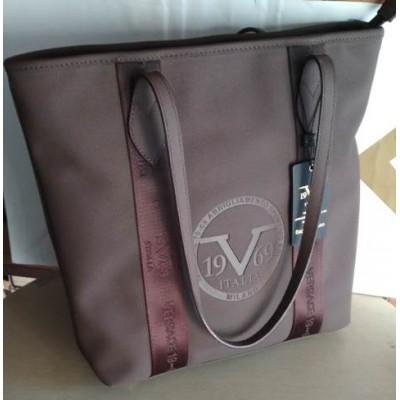 Cумка  Versace 1969, экокожа, коричневая
