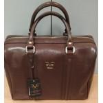 Cумка-саквояж большая, Versace 1969, Италия, экокожа, коричневая