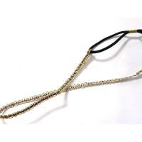 Ободок-повязка, для греческой прически, OB060-8,  ярко - золотистый