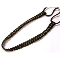 Ободок-повязка, для греческой прически, OB110-4,  черный с  коричневым