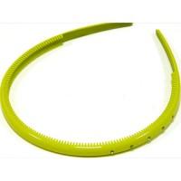 Ободок желтый , французский пластик, OP105-209-st5
