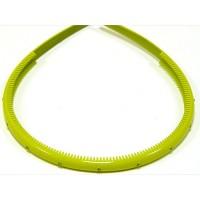 Ободок желтый , французский пластик, OP105-209-st9