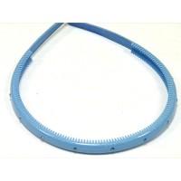Ободок голубой c кристаллами, французский пластик, OP105-231c-st9