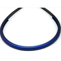 Ободок  синий с кристаллами, французский пластик, OP105-rbm-st9,  AKCENT
